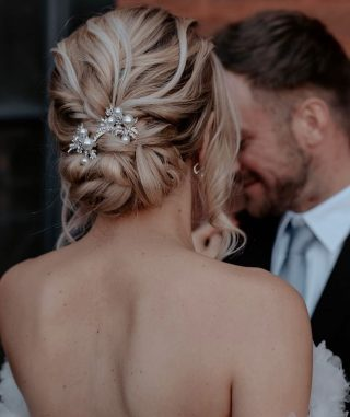 What a stunning bridal hairstyle by North West based hair stylist @haircreationsbycolette 🤩   📸 @emily_robinson_photo   #northwesthair #northwesthairdresser #northwesthairstylist #bridalhair #bridalhairstyle #bridalhairstyles #bridalhairpiece #bridalhairinspo #bridalhairideas