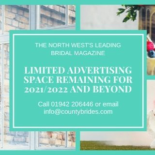 County Brides Magazine 2021/22 update  We're going to print at the end of this month and have just a couple of advertising spaces remaining!   The talent here in the North West is incredible and it's our mission to spread the word about your business. So, if you're a North West Wedding venue, supplier or creative and would like to get in front of Brides and Grooms again, be sure to get in touch!   Email us info@countybrides.com or call 01942 206446  #advertising #branding #marketing #pr #northwest #Cheshire #Lancashire #Merseyside #Wirral #Cumbria #Liverpool #Manchester #Countybrides #weddings #weddinginspiration