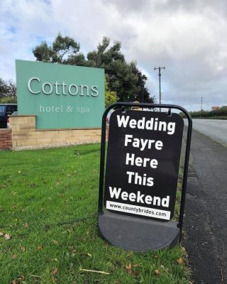 This was our last event 364 days ago! Please look at our website for new wedding fayre dates. We hope to welcome you back soon. www.countybrides.com
