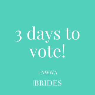 Not long left now! 3 days to get your votes in for this year's North West Wedding Awards! ⠀ ⠀ Click the link in our bio to vote! ⠀ ⠀ #NWWA21