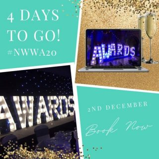 Looking forward to seeing you all virtually and raising a glass in just 4 days! Tap the link in our bio to book your tickets! #NWWA20 ⠀ ⠀ ⠀ #northwestweddingawards #weddingawards #northwestsupplier #weddingsupplier