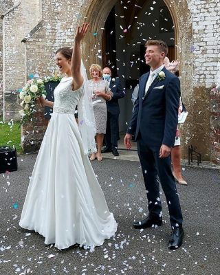 """This lovely couple had their special day yesterday on 10-10-20, the year of their tenth anniversary ❤️ Lovely words from the bride Jemma Roe... """"We're a postponed wedding from April 2020 which I booked over 18 months before and honestly, the stress I felt as a COVID bride was unbelievable so I completely understand how everyone else is feeling. We were adamant to get married this year as it's our 10 year anniversary so 10-10-2020 meant a lot to us when we postponed (it was meant to be). We had 15 people in the service which for us, made it so much more personal and there was not a dry eye in the church. Our friends performed a song as we're not allowed to sing and one of my bridesmaids created a stunning message video from our friends and family who couldn't be there with us in the church (complete surprise!). We are having our wedding reception next year (09/10/2021) on our 1 year anniversary. Thanks for all the DIY suggestions (got so many!!!) For anyone hesitating whether to go ahead, remember what this day is about. It's about you and your partner - live for the moment as you never know what tomorrow will bring."""" ❤️ . . . . . . #weddinggoals #covidwedding2020 #weddingday #myweddingday #weddingdress #coronawedding #covidwedding #weddingstory"""